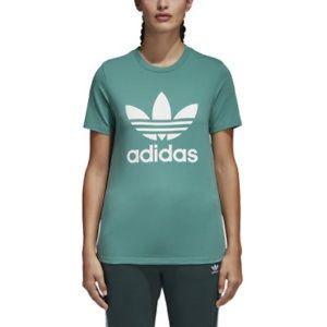 ADIDAS a women's trefoil tee- green size M